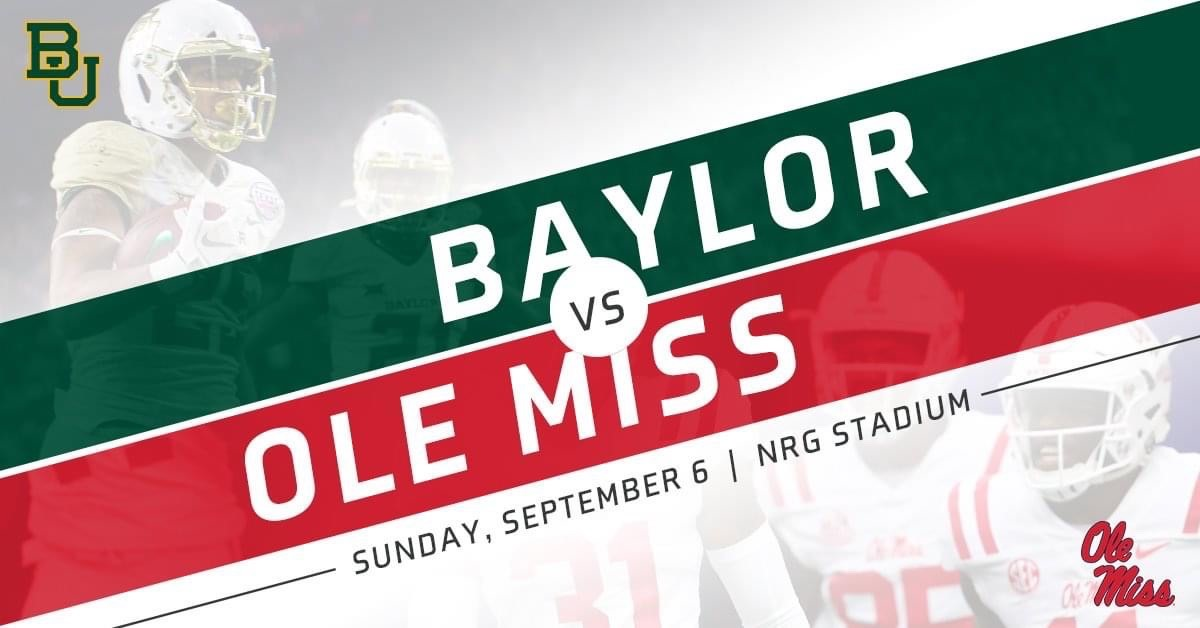 2020 Texas Kickoff Featuring Baylor And Ole Miss Moves To Sunday September 6 Espn Events